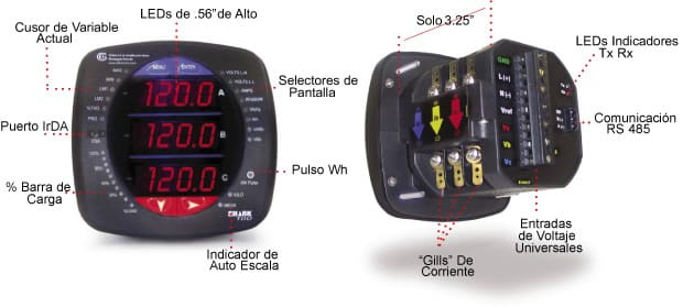 Shark 100 Meter : Multifunction power and energy meter shark