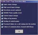 Analizador de redes eléctricas software cualquier evento