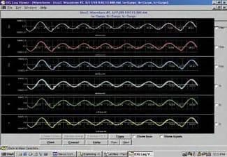 registro forma de onda analizadores de redes eléctricas