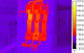 imagen termográfica del instrumento reparado
