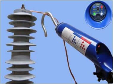 detalle detector defectos pararrayos redes alta tensión