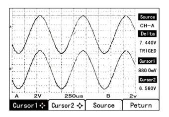 pantalla osciloscopios