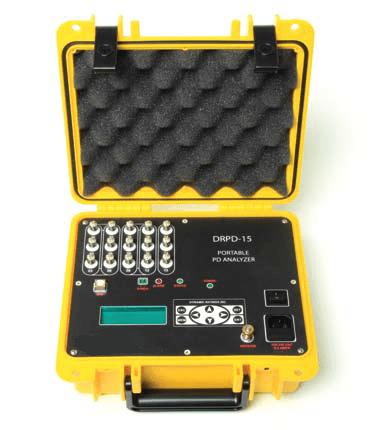 Analizador de descargas parciales portátil