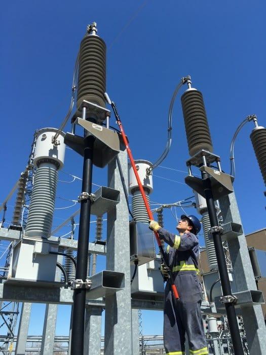 Medidor de descargas parciales en cable