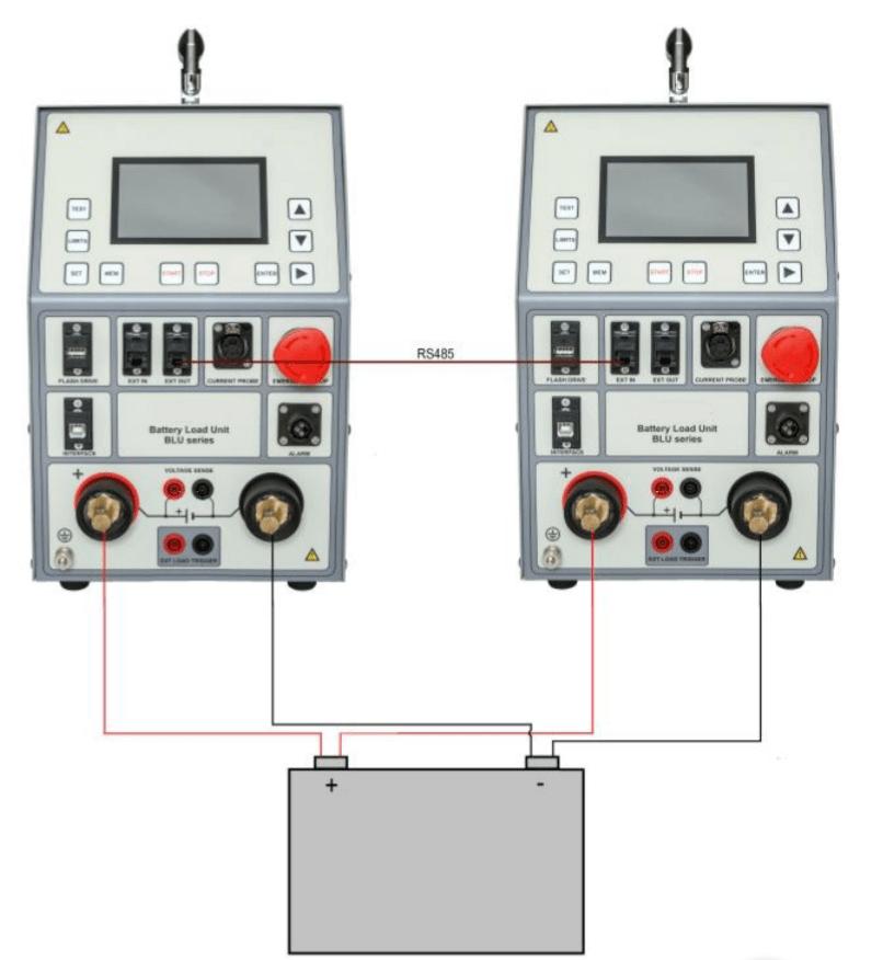 Descargador de baterías en paralelo