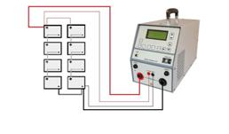 Cargador Amperis conectado a banco de baterías