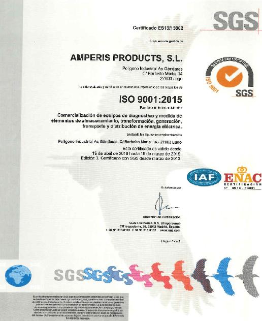 ISO 9001:2015 AMPERIS
