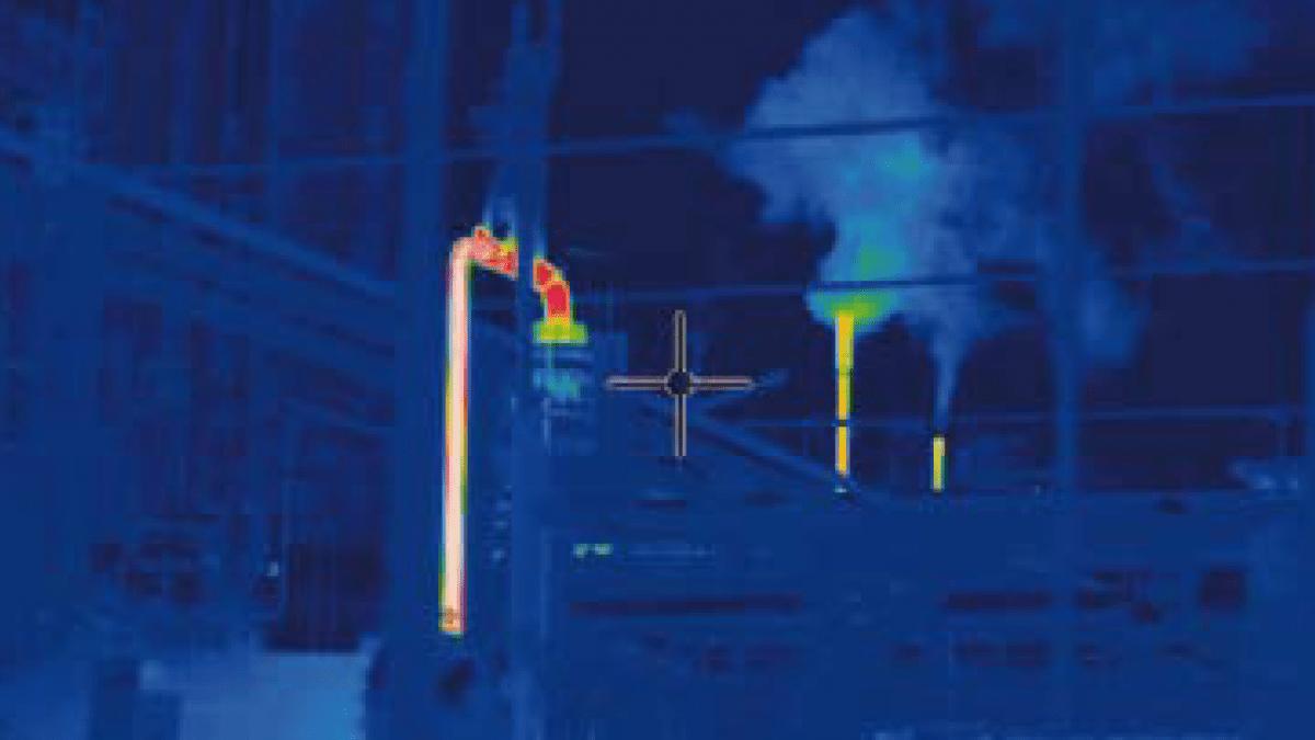 Detección fuga con cámara infrarroja