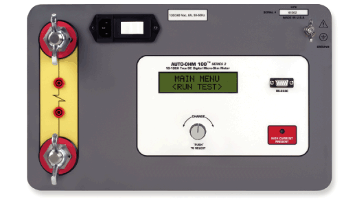 testing EHV circuit-breaker contact resistances