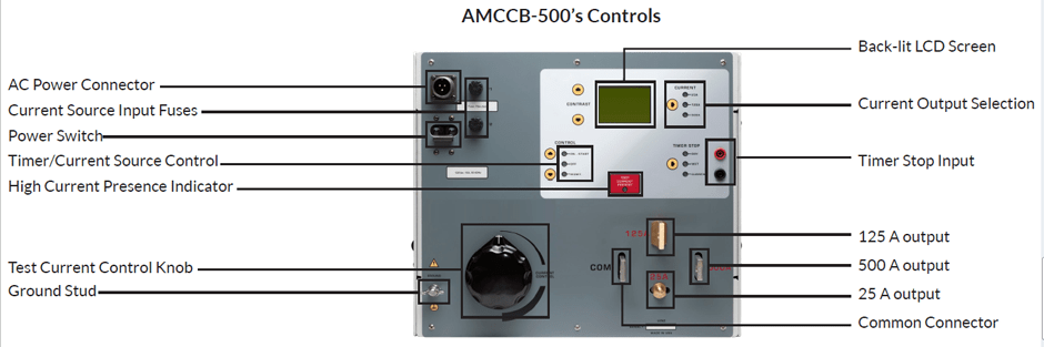 Controls Molded Case Circuit Breaker and Relay Tester AMCCB-500