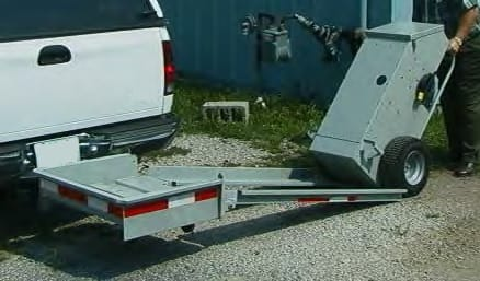 Carga de un equipo VLF al transportador manual