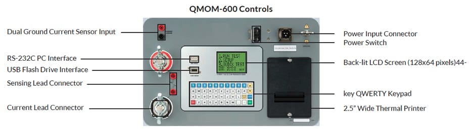 Controls Microhmmeter QMOM 600