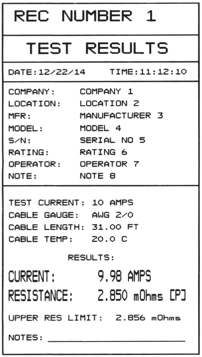 Thermal Printer Output