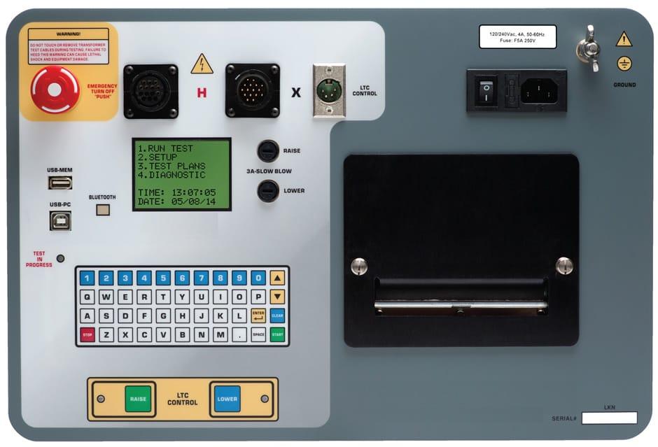 Detalles Medidor trifásico de relación de transformación TTRF-250
