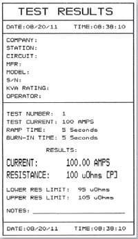 Resultados Micróhmetro QMOM 200 S3