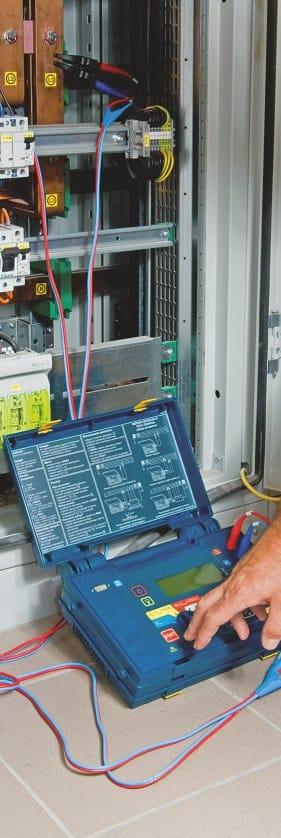 Uso Medidor de Impedancias de Bucle de Cortocircuito de Alta Corriente AMZC-310S