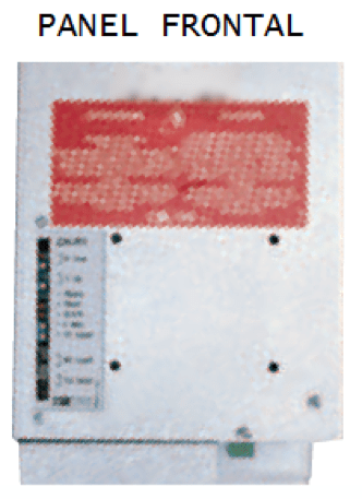 Panel frontal Cargadores / Rectificadores de Baterías Serie ACH