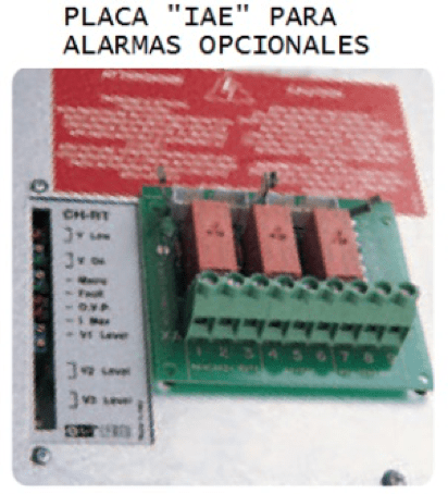 Placa IAE Cargadores / Rectificadores de Baterías Serie ACH