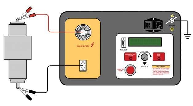 Conexión del equipo de Prueba de Interruptores de Vacío HVBT-75