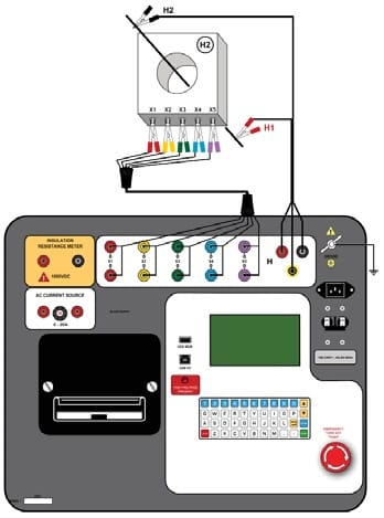Conexiones Analizador de Transfomadores de Corriente AEZCT-2000C