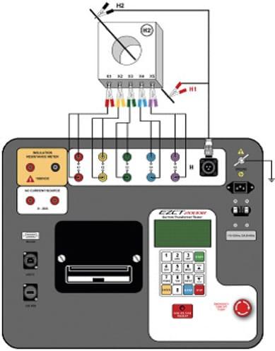 Conexiones del analizador de transformadores AEZCT-2000B