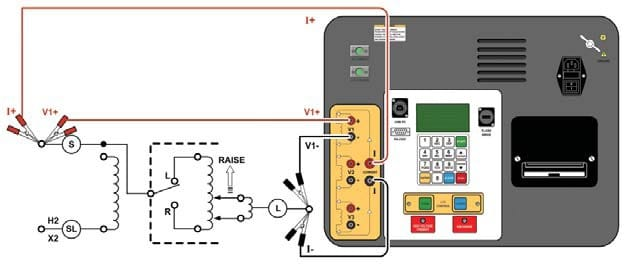 Conexiones Medidor de resistencia de bobinados y conmutador en carga QLTCA-10