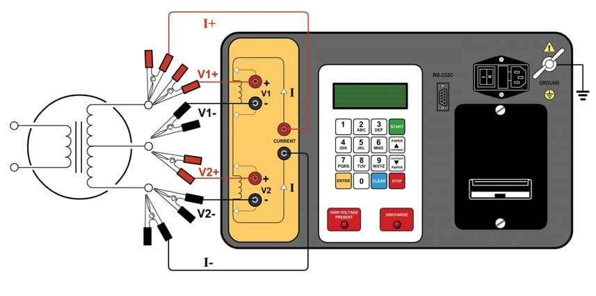 Conexiones Medidor de resistencias de bobinados QRM-10P