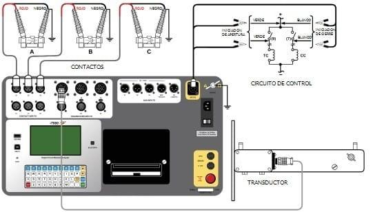 Conexiones típicas del CBT-7000