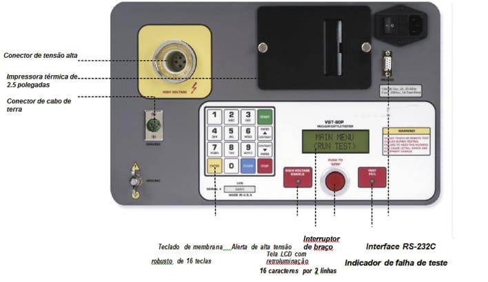 Detalhes testador de vácuo de frascos HVBT-80P