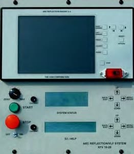 Control panel Portable VLF Testing & Cable Fault Location Series AXFV