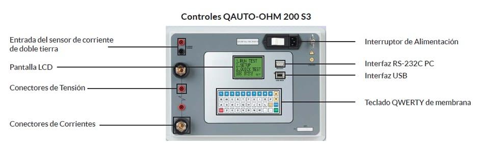 Controles Microhmetro QAuto-Ohm 200 S3
