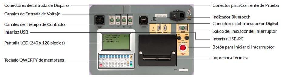 Controles del Comprobador de interruptores Amperis DigiAMR