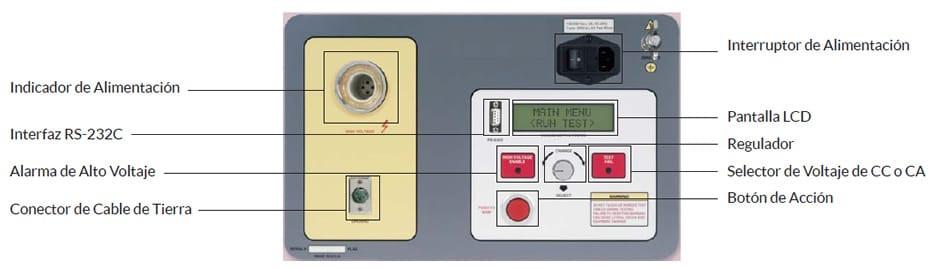 Controles del equipo de Prueba de Interruptores de Vacío HVBT-75