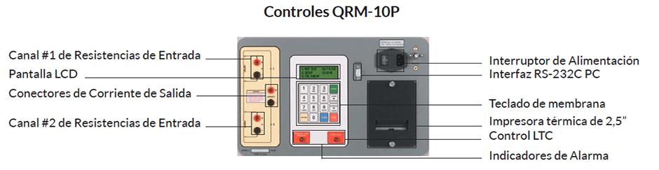 Controles Medidor de resistencias de bobinados QRM-10P