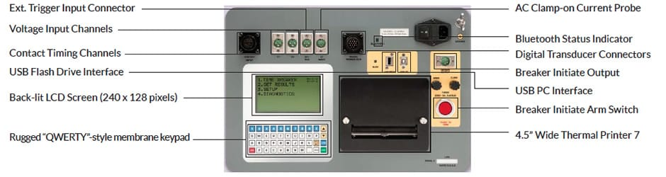 Controls of EHV Circuit Breaker Analyzer DigiAMR