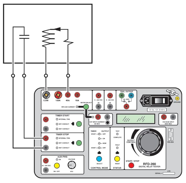 Equipamento de teste de relés ARFD 200 detalhes