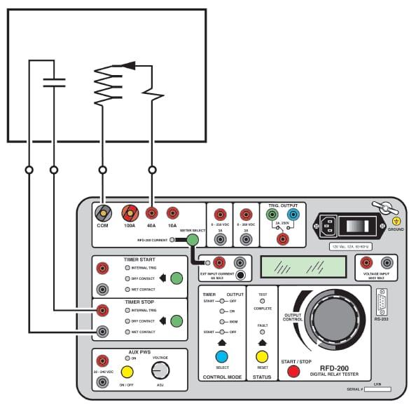 Équipement d'essai pour relais ARFD 200 détails