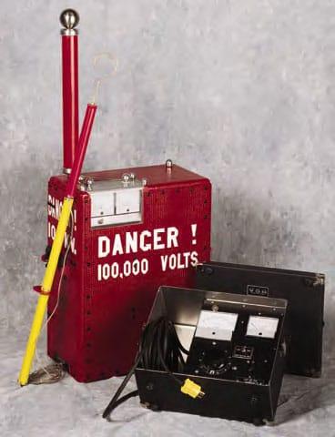 Detalle Probador dieléctrico Alto voltaje C-DC