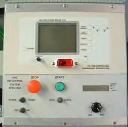 Detalle panel de control Localizador portátil de fallas en cables AXF