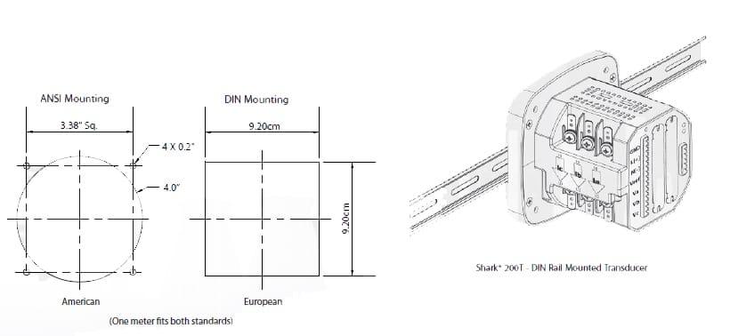Shark 100 Meter Energy : Multifunction power and energy meter shark