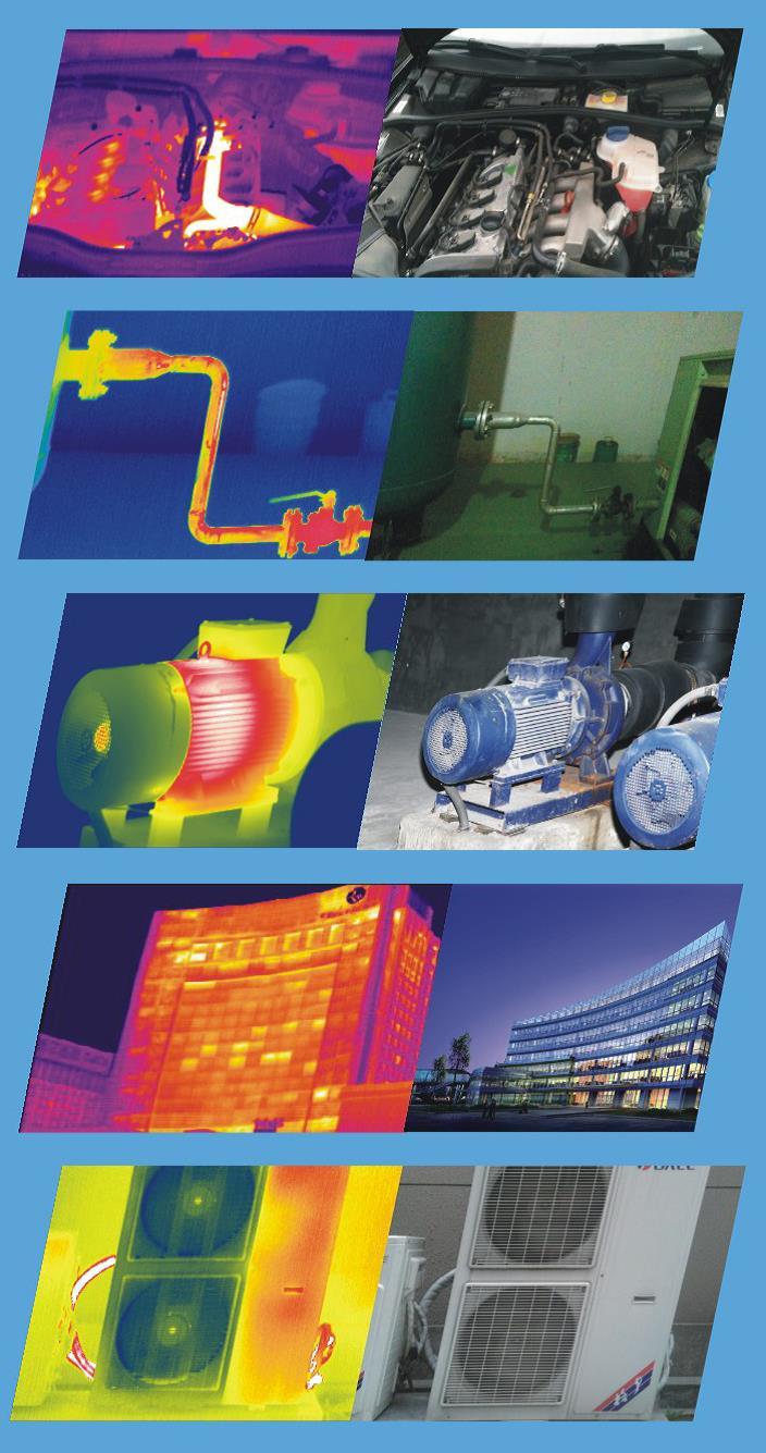 Ejemplos de aplicaciones Cámaras termográficas TC3-P / TC7-P Series