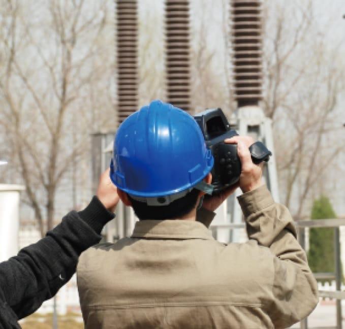 Ejemplos de uso Cámara termográfica de detección de Gas SF6 TC706
