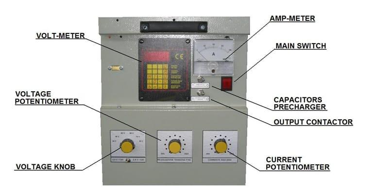 Esquema Simulador y descargador de baterías Amperis