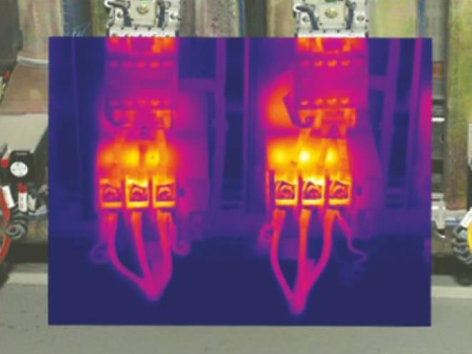 Fusión de imagen normal e imagen infrarroja