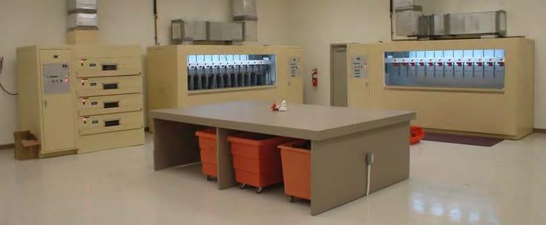 Habitación Controles Probadores de guantes, mangas y línea de mangueras