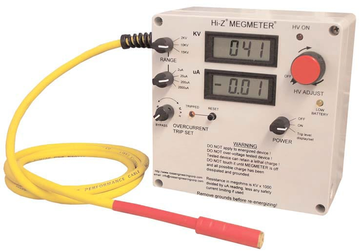 High voltage megmeter