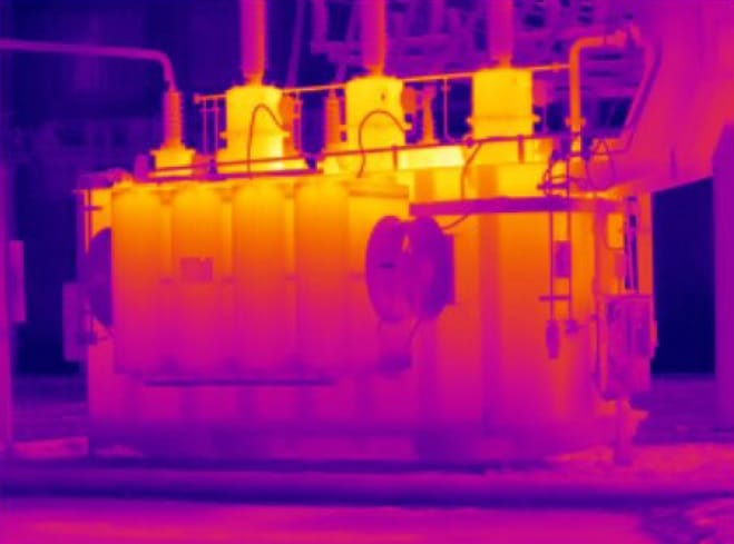 Ejemplo imagen infraroja Cámara termográfica IRDL708 Series