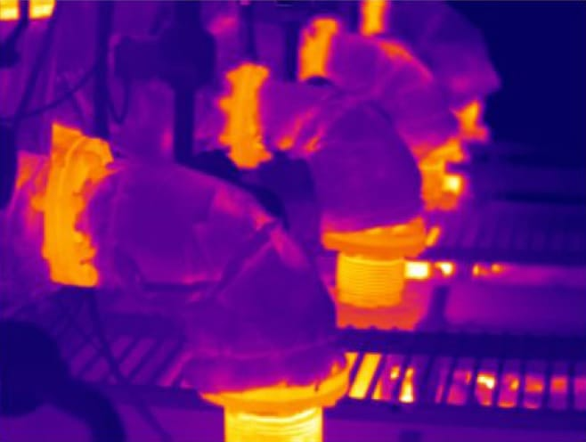 Imagen infrarroja Cámara termográfica IRDL708 Series
