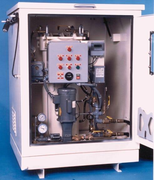 Interior del deshidratador de transformadores en servicio Amperis DryMAX®