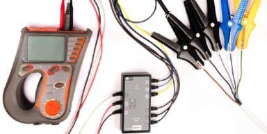 Cables y conexiones del medidor de resistencia de aislamiento Amic-2510